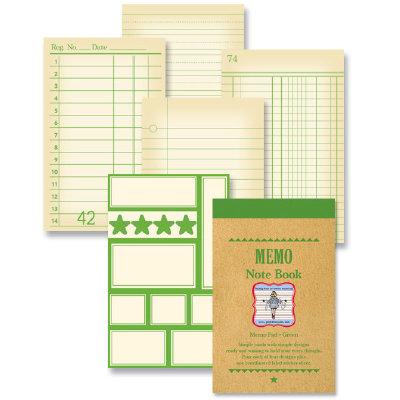 Jenni Bowlin Studio - Memo Book - Green, CLEARANCE