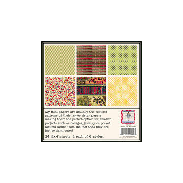 Jenni Bowlin Studio - Family Tree Collection - Mini 4 x 4 Paper Set