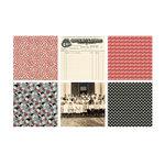 Jenni Bowlin Studio - Red and Black III Collection - Mini 4 x 4 Paper Set