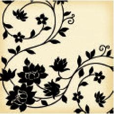 Jenni Bowlin Studio - Vintage Collection - 12 x 12 Patterned Paper - Black Vine
