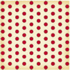 Jenni Bowlin Studio - Vintage Collection - 12 x 12 Patterned Paper - Red Large Dot
