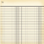 Jenni Bowlin Studio - Vintage Collection - 12 x 12 Patterned Paper - Black Ledger