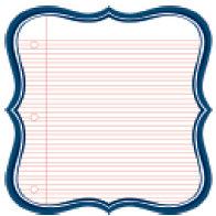 Jenni Bowlin Studio - 12 x 12 Die Cut Paper - Navy Lined Label