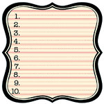 Jenni Bowlin Studio - 12 x 12 Die Cut Paper - Numbered Label