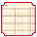 Jenni Bowlin Studio - Front Porch Collection - 12 x 12 Die Cut Paper - Ledger Classic Label