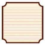 Jenni Bowlin Studio - Front Porch Collection - 12 x 12 Die Cut Paper - Kindergarten Classic Label, CLEARANCE