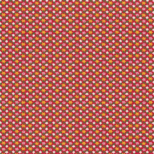 Jenni Bowlin Studio - Homespun Collection - 12 x 12 Paper - Tiny Tulips