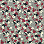 Jenni Bowlin Studio - Red and Black III Collection - 12 x 12 Paper - Mamas Dress