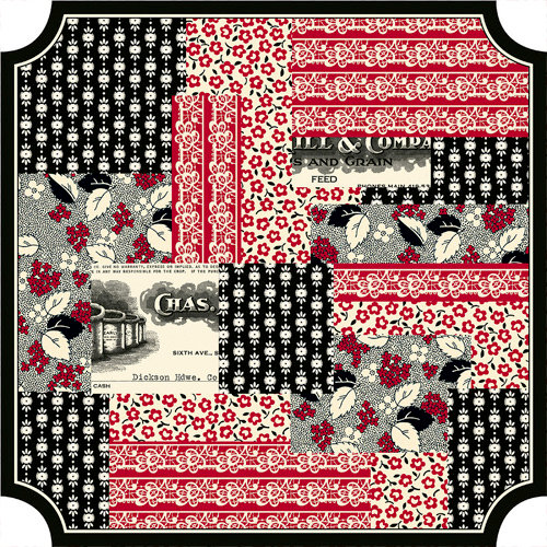 Jenni Bowlin Studio - Red and Black III Collection - 12 x 12 Die Cut Paper