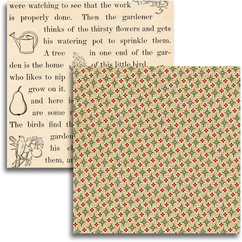 Jenni Bowlin Studio - Haven Collection - 12 x 12 Double Sided Paper - Peeling Paper