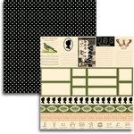 Jenni Bowlin Studio - Haven Collection - 12 x 12 Double Sided Paper - Accessory Sheet