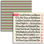 Jenni Bowlin - Christmas 2011 Collection - 12 x 12 Double Sided Paper - Carol Index