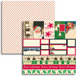Jenni Bowlin - Christmas 2011 Collection - 12 x 12 Double Sided Paper - Accessory Sheet