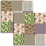 Jenni Bowlin - Christmas 2011 Collection - 12 x 12 Double Sided Paper - Mini Pattern Sheet