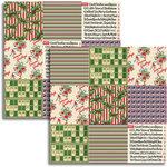 Jenni Bowlin - Christmas 2011 Collection - 12 x 12 Double Sided Paper - Mini Pattern Sheet