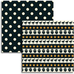 Jenni Bowlin - Halloween 2011 Collection - 12 x 12 Double Sided Paper - Scary Stripe