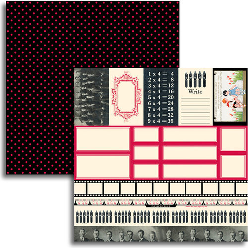 Jenni Bowlin Studio - Red and Black IV Collection - 12 x 12 Double Sided Paper - Accessory Sheet