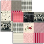 Jenni Bowlin Studio - Red and Black IV Collection - 12 x 12 Double Sided Paper - Mini Pattern Sheet