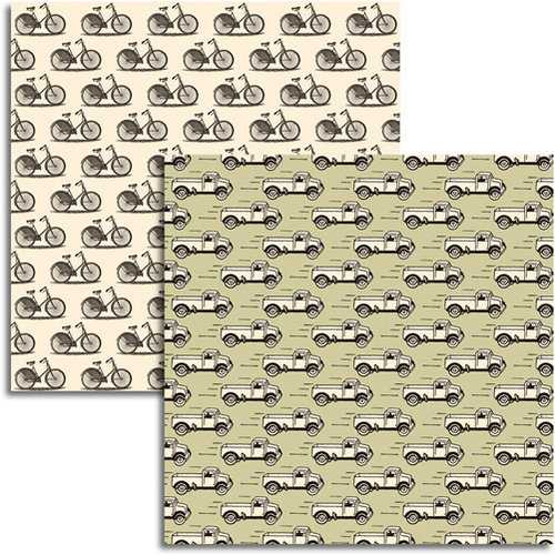 Jenni Bowlin Studio - Magpie Collection - 12 x 12 Double Sided Paper - Salvage
