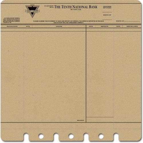 Jenni Bowlin Studio - 12 x 12 Die Cut and Perforated Kraft Paper - Bank Statement