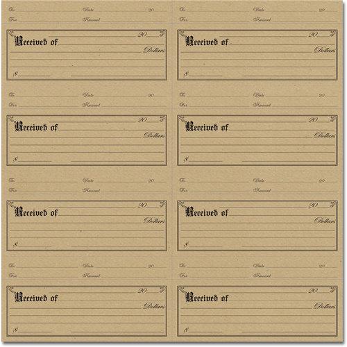 Jenni Bowlin Studio - 12 x 12 Die Cut and Perforated Kraft Paper - Receipt