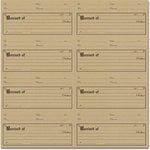 Jenni Bowlin Studio - 12 x 12 Die Cut and Perforated Kraft Paper - Receipt