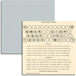 Jenni Bowlin Studio - Wren Collection - 12 x 12 Double Sided Paper - Typing Lessons