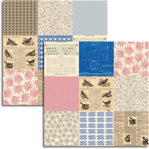 Jenni Bowlin Studio - Wren Collection - 12 x 12 Double Sided Paper - Mini Pattern Sheet
