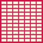 Jenni Bowlin Studio - 12 x 12 Die Cut and Perforated Paper - Label Sheet
