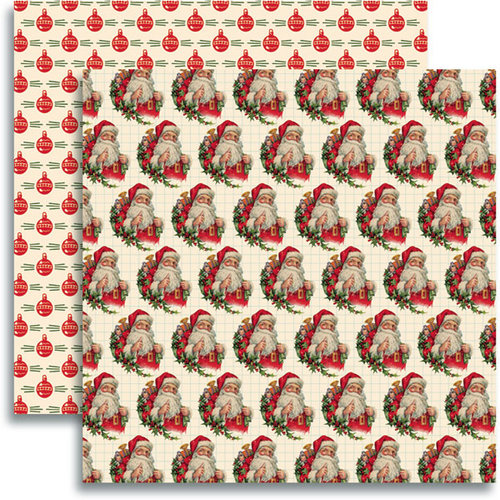 Jenni Bowlin Studio - Christmas 2012 Collection - 12 x 12 Double Sided Paper - Jolly Saint Nick