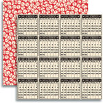 Jenni Bowlin Studio - Christmas 2012 Collection - 12 x 12 Double Sided Paper - Calendar