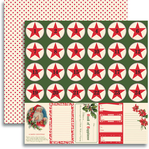 Jenni Bowlin Studio - Christmas 2012 Collection - 12 x 12 Double Sided Paper - Accessory Sheet