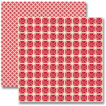 Jenni Bowlin Studio - Red and Black Collection 2012 - 12 x 12 Double Sided Paper - Red Cross Stoves