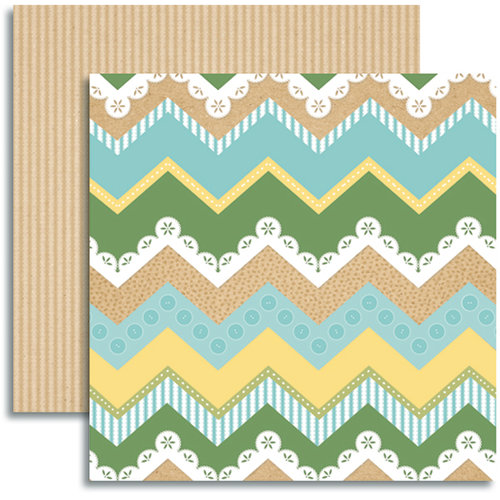 Jenni Bowlin Studio - Modern Mercantile Collection - 12 x 12 Double Sided Paper - Sundries