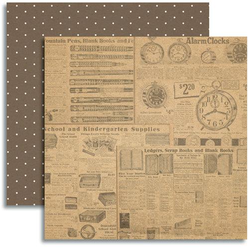 Jenni Bowlin Studio - Modern Mercantile Collection - 12 x 12 Double Sided Paper - Paraphernalia
