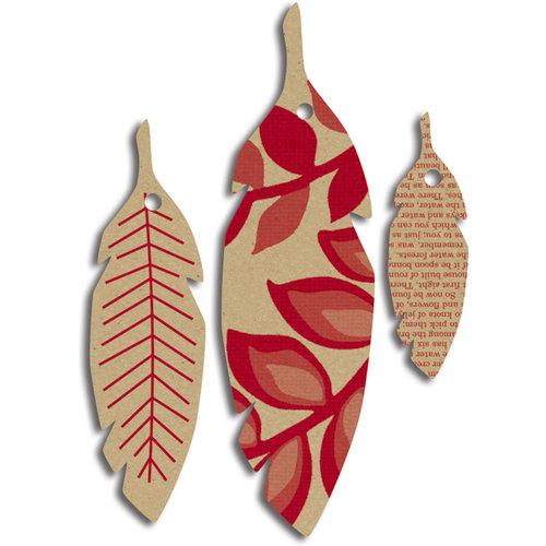 Jenni Bowlin Studio - Printed Feather Tags - Kraft