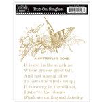 Jenni Bowlin Studio - Rub Ons Single - Butterfly Book Page - Metallic Gold, CLEARANCE