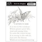 Jenni Bowlin Studio - Rub Ons Single - Butterfly Book Page - Metallic Silver, CLEARANCE