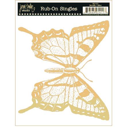 Jenni Bowlin Studio - Rub Ons Single - Butterfly - Metallic Gold, CLEARANCE