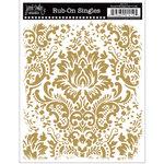 Jenni Bowlin Studio - Rub Ons Single - Damask Background - Metallic Gold