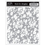 Jenni Bowlin Studio - Rub Ons Single - Floral Background - Metallic Silver