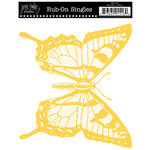 Jenni Bowlin Studio - Rub On Single - Butterfly - Yellow