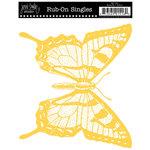 Jenni Bowlin Studio - Rub On Single - Butterfly - Yellow