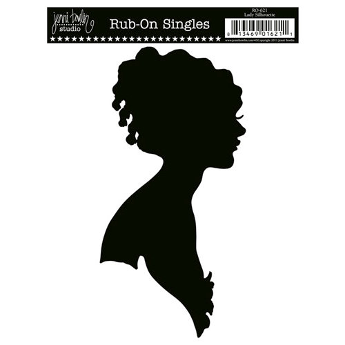 Jenni Bowlin Studio - Rub On Single - Lady Silhouette