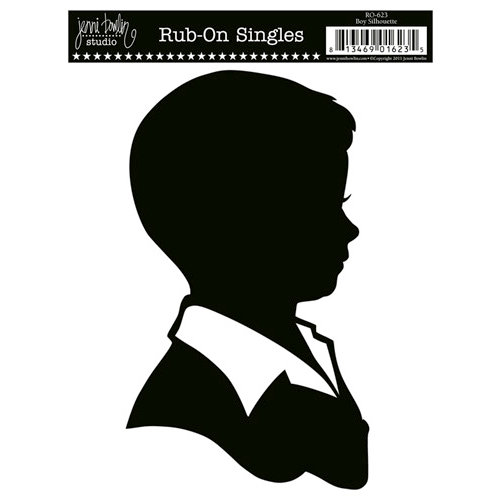 Jenni Bowlin Studio - Rub On Single - Boy Silhouette