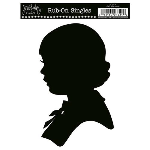 Jenni Bowlin Studio - Rub On Single - Girl Silhouette