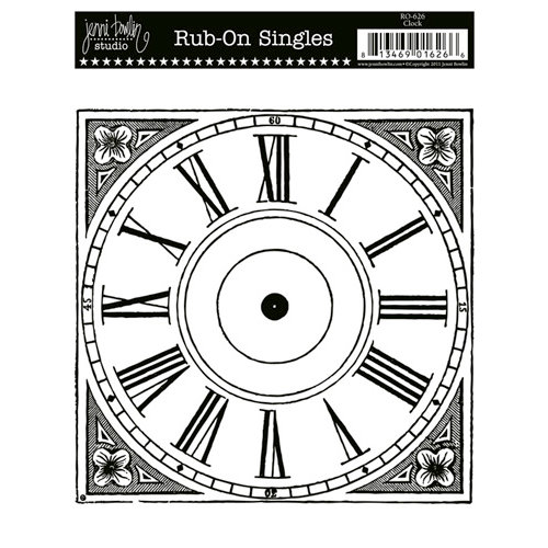 Jenni Bowlin Studio - Rub On Single - Clock