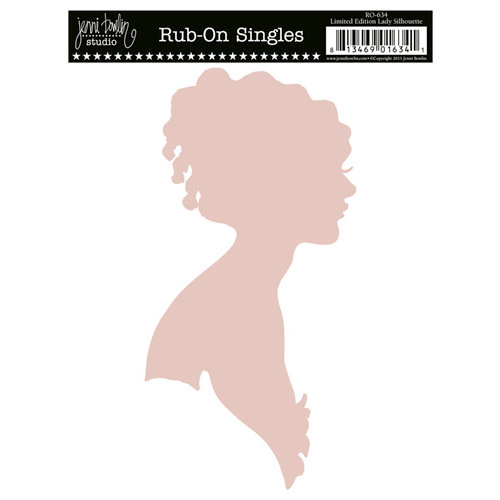 Jenni Bowlin Studio - Rub On Single - Lady Silhouette - Pink