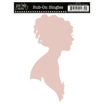 Jenni Bowlin Studio - Rub On Single - Lady Silhouette - Pink