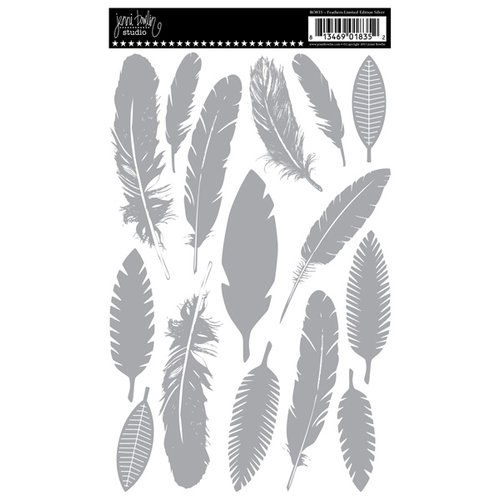 Jenni Bowlin Studio - Rub Ons - Feathers - Limited Edition Silver